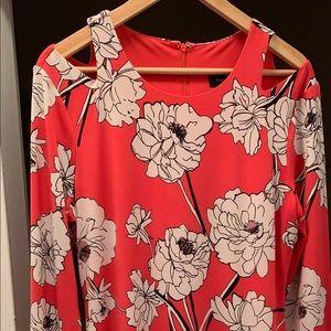 Ivanka Trump Dresses - ⬇️💲Ivanka Coral Flowered A Line Dress